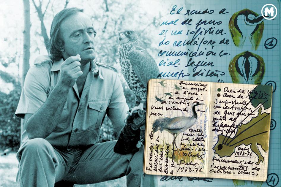 imagen que ilustra los cuadernos de campo de FÉLIX RODRíGUEZ DE LA FUENTE,