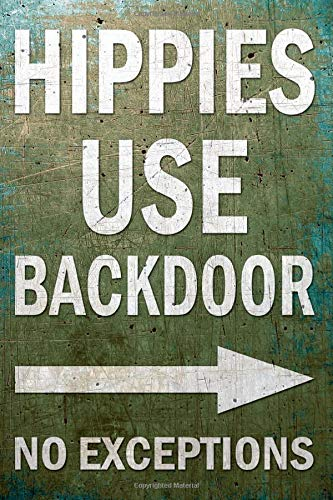 cuaderno: HIPPIE USE BACK DOOR