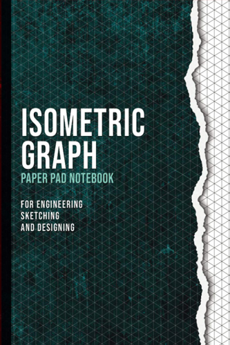 ISOMETRIC GRAPH: Paper Pad Notebook | Grid Of Equilateral Triangles